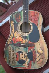 "Custom Painted Designed ""Nancy""Guitar"