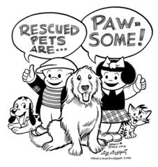 NANCY Rescued Pets Are Pawsome Print