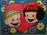 Original Painting Of Sluggo and Nancy on Canvas